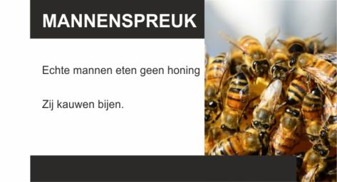 Bijen kauwen