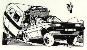 caravan zwaar bepakt