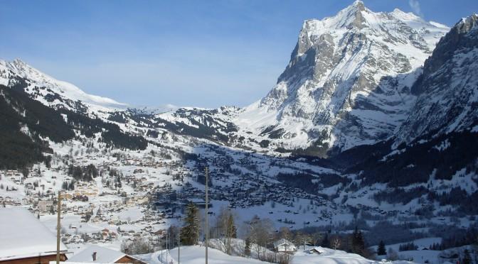Schuiven en skiën in Grindelwald